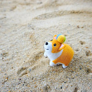 MoonMade 手工羊毛氈柯基犬鑰匙圈 3D哥基狗狗動物鑰匙扣 生日禮物 Needle Felting Corgi Keychain Keyring Birthday Gift for Corgi Lover