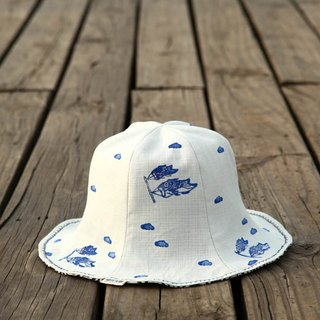 [Micro-Japanese style match - wind squid flag] double-sided flower carp fisherman hat