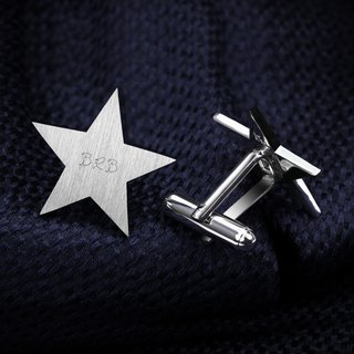 Star Cufflinks Personalized – 925 silver Cufflinks Engraved with date, initials