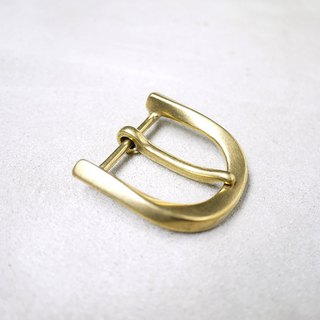 Japanese brass horseshoe belt head strap buckle 33mm 2