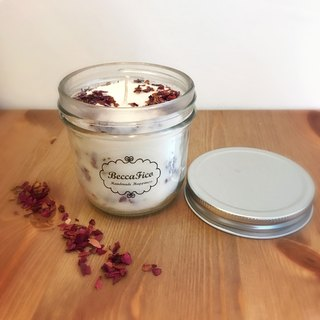 Rose Petals Geranium & Vanilla Soy Essential Oil Candles (236g + gift wrap)