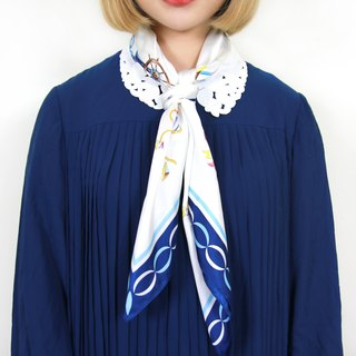 Back to Green :: Classical scarves clear ocean sailor vintage scarf (SC-01)