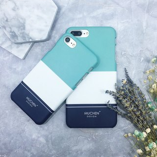 Classic Series - Simple Blue and Green Colors (iPhone.Samsung Samsung, HTC, Sony.ASUS Mobile Shell Cover)