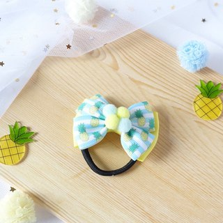 Pineapple Hairbow hair clip