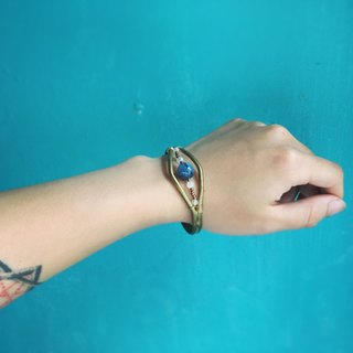 Moonstone brass aquamarine bracelet wrist bracelet can be used for simple geometric crystal ornaments hand-made natural stone bracelet ethnic