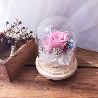 Pink Purple Rose - Everlasting Flower Night Light / Valentine's Day Preferred / FLORA FLOWER / Wedding Small Things