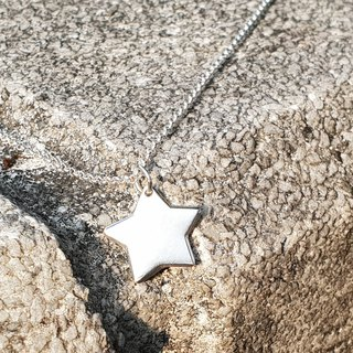 V34 - can not do the same silver necklace - star shape - 925 sterling silver necklace - royal smith