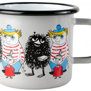 Moomin Finnish Lulu enamel mug 3.7 dl (2017 spring friend Gray models) Christmas gifts Valentine's Day gift exchange gifts