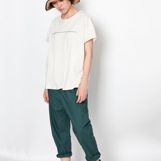 And - The Game of the Earth - Cotton Elastic Oval Pocket Trousers