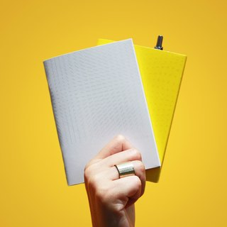 get to the point - Storage Pen Pen Notebook (White + Yellow)