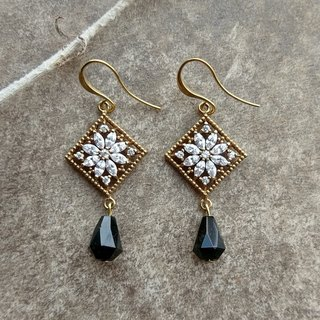 Byzantine Black Drop Earrings