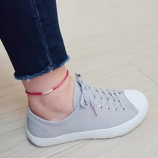 925 sterling silver wax rope anklet lucky rope anklet passenger self-mixing two-color spot + custom models