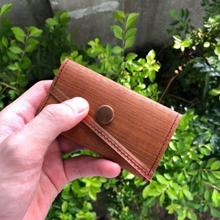 "Business Card Holders/Card Holders_Selected Natural ""Teak"" Solid Wood Leather_Pure Copper Metals"