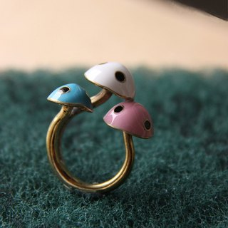Mario Mushroom Ring / Linen Jewelry / Mushroom Ring / Brass Jewelry / Handcraft Ring / Style Ring / Everyday Jewelry.