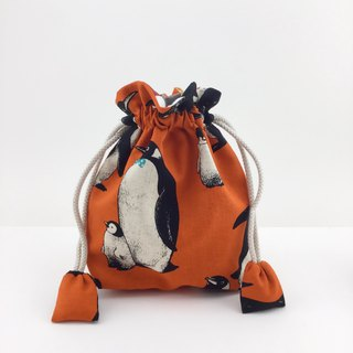 Cool penguin - cotton bundle pocket - toys / sundries / mobile phone money storage