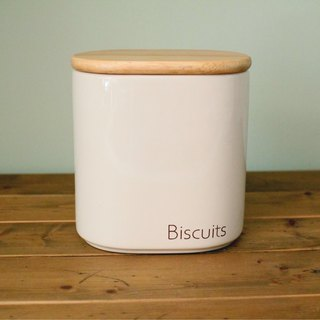 UK imported design MODENA wood lid ceramic storage jar snack food storage tank sealed tank storage tank