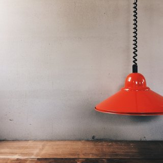(Red UFO)1970~1980s Exported to Europe and the United States UFO retractable chandelier