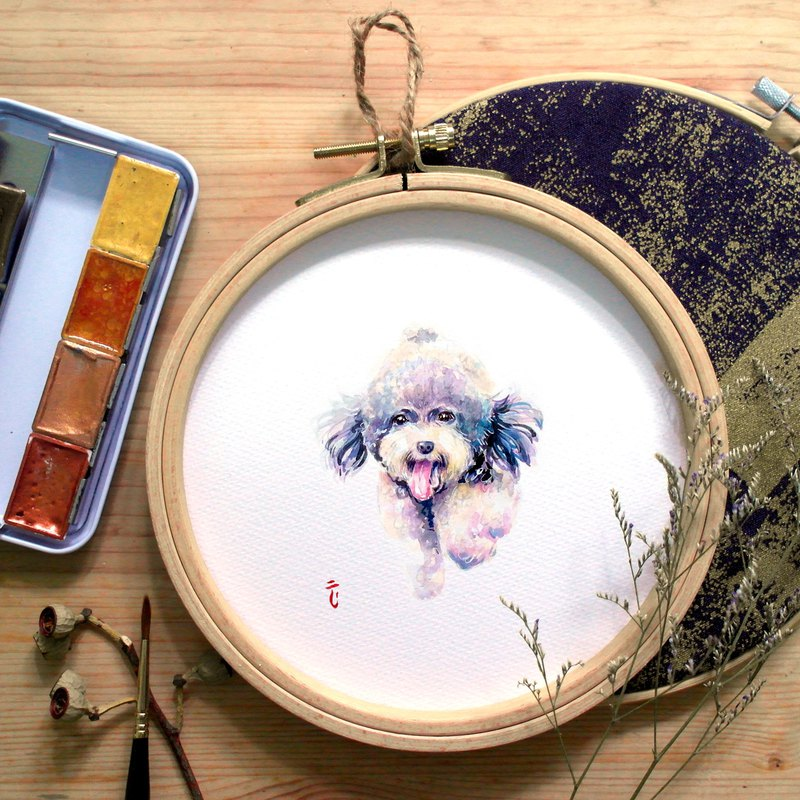 Variety of Animals-Poodle (with round frame)