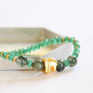 Fashion Jewelry series of energy - Garden plants agate bead bracelet / Moss Agate bracelet