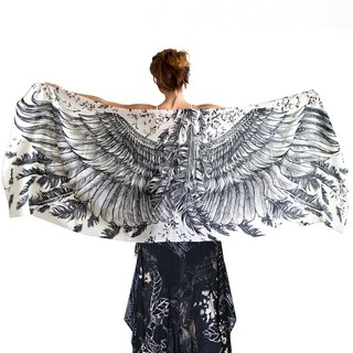 White Wings Scarf - cotton