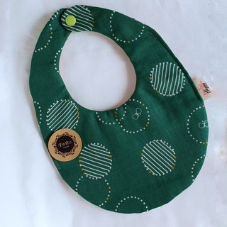 Butterfly Circle - Dark Green - Eight Layers 100% Cotton Egg Bib