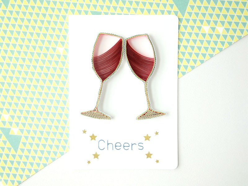 Hand made decorative cards- Cheers