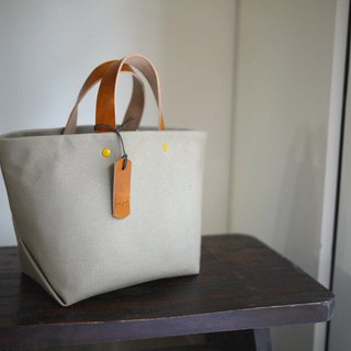 Leather Handle Bag (Small) - Khaki Green