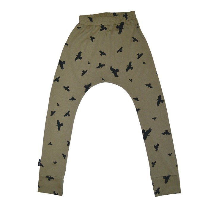 Nordic organic cotton children's clothing rat trousers dark green suitable for 1 year old ~ 8 years old Baggy Pants ba2