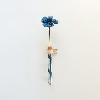 Wonder-Carnation Leather Hanging Bunch - Listening to Wind Blue - Mother's Day/Gift/Bouquet/Leather/Mom