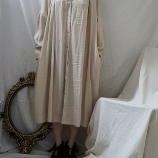 Silk linen shirt dress BEIGE beige silk shirt loose dress