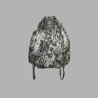 groin waterproof bag - back section (L) - Limited models - gray camouflage