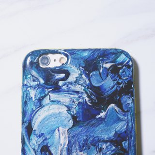 Experimental series ll a vast ocean ll hand-painted oil painting mobile phone shell