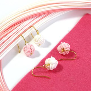 japanese style pierce / mizuhiki / japan / accessory /ball / present
