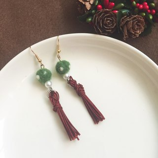 Mini fleshy handmade fringed earrings - pocket _ can be changed clip