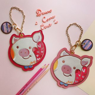 Amy's Piglet Flock Card Holder x Coin Purse