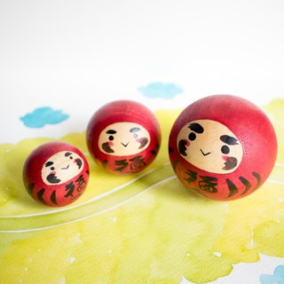 Daruma family small toy - Rocking doll-Japanese Traditional culture-Good luck doll- Birthday gift. Home decor. wooden doll. Home decoration.