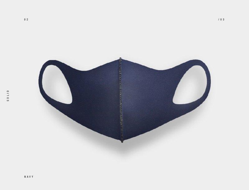 LeMASKA 韓國口罩 時尚口罩 KF80 _ 深藍 (可重複使用)