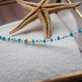 Journal Xingsha Sugar Bowl - Cang wind / natural apatite, moonstone pearl sterling silver bracelets