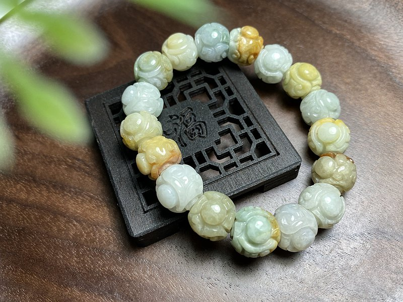 Jade Ball Carved Dragon Ball Bracelet