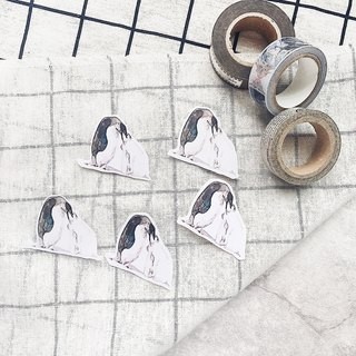 Hand painted sticker penguin handy watercolor calliyan stickers lovely