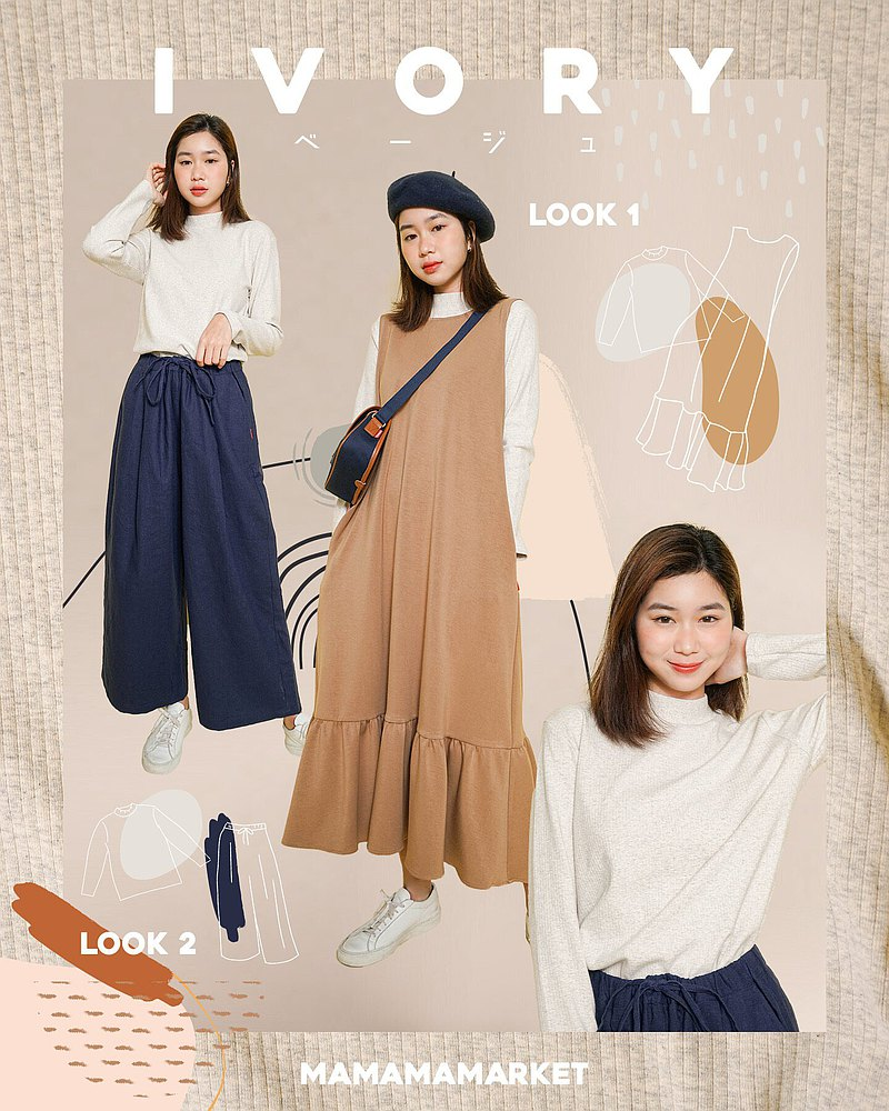 MAMAMA VOL.555 Warmthin thin space cotton stretch cloth thinner bow LAZY vest lazy skirt