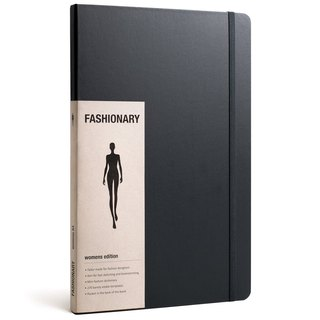 FASHIONARY hand-painted book / female version / A4 / black