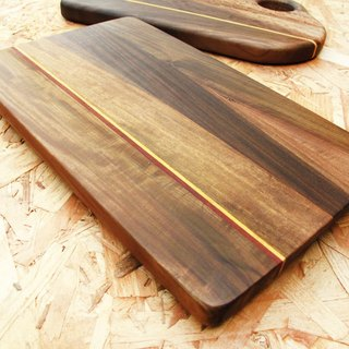 Natural antibacterial wood plate / dessert plate / small rectangular / Paraguay rosewood stitching