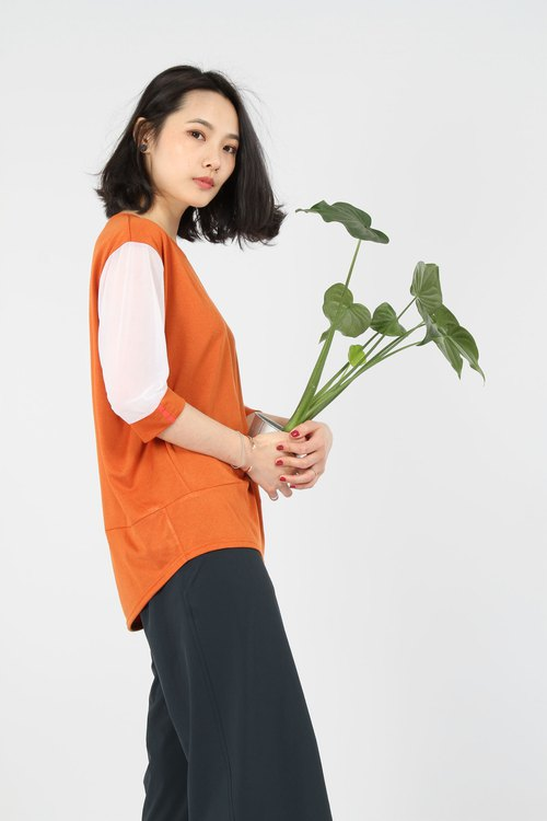 Hem fold suction sleeve sleeve - orange