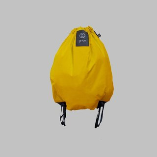 grion waterproof bag - back section (M) yellow