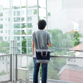 Messenger bag (Grey-Navy)