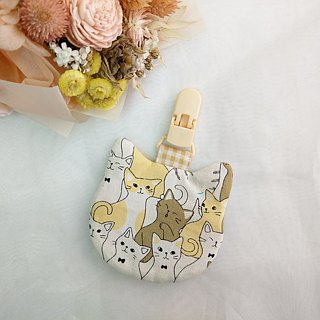 Milk tea cat. Cat modeling safe bag / blessing bag / key ring (can add 40 embroidery name)