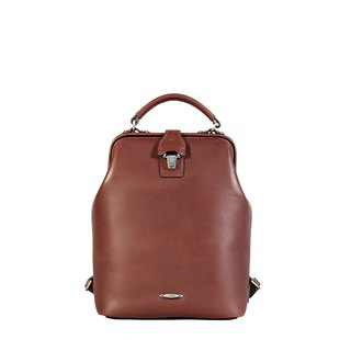Nurse Retro Leather Doctor Backpack - Dark Coffee
