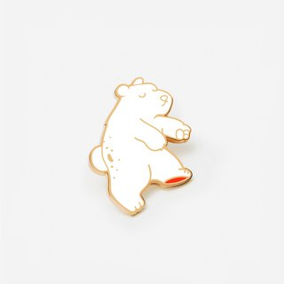 Floating Polar Enamel Pin - Bear Pin - Bear with me