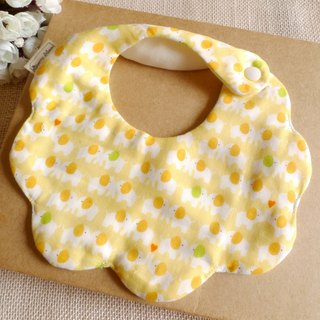 Cloud six-layer yarn bibs saliva towel - cute elephant (yellow)
